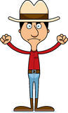 Cartoon Angry Cowboy Man Stock Photo