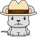 Cartoon Angry Cowboy Mouse Stock Photos