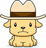 Cartoon Angry Cowboy Puppy Royalty Free Stock Photos