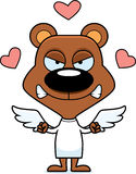 Cartoon Angry Cupid Bear Royalty Free Stock Images