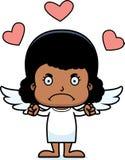 Cartoon Angry Cupid Girl Stock Photography