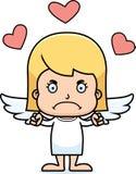 Cartoon Angry Cupid Girl Stock Photos
