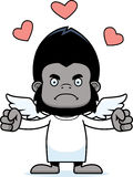 Cartoon Angry Cupid Gorilla Stock Photography