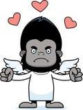 Cartoon Angry Cupid Gorilla Stock Photography
