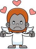 Cartoon Angry Cupid Orangutan Royalty Free Stock Photo