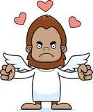 Cartoon Angry Cupid Sasquatch Stock Photography