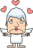 Cartoon Angry Cupid Woman Royalty Free Stock Images