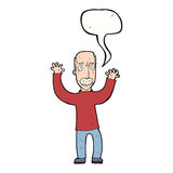 Cartoon angry dad with speech bubble Royalty Free Stock Photo