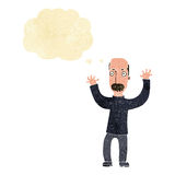 Cartoon angry dad with thought bubble Stock Images