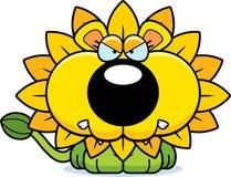 Cartoon Angry Dandelion Lion Royalty Free Stock Photos