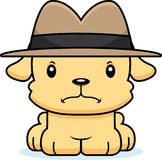 Cartoon Angry Detective Puppy Stock Image