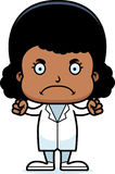 Cartoon Angry Doctor Girl Royalty Free Stock Photo