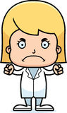 Cartoon Angry Doctor Girl Royalty Free Stock Image