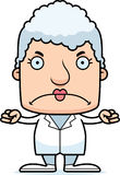 Cartoon Angry Doctor Woman Royalty Free Stock Image