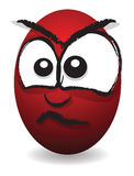Cartoon angry egg face Stock Photo