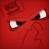 Cartoon angry eyes Stock Images