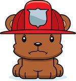 Cartoon Angry Firefighter Bear Stock Photo