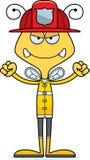 Cartoon Angry Firefighter Bee Stock Photo