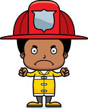 Cartoon Angry Firefighter Boy Royalty Free Stock Photo