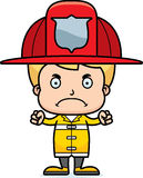 Cartoon Angry Firefighter Boy Stock Images