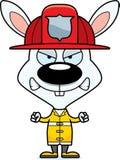 Cartoon Angry Firefighter Bunny Stock Photo