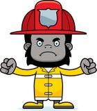 Cartoon Angry Firefighter Gorilla Royalty Free Stock Photo