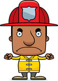 Cartoon Angry Firefighter Man Royalty Free Stock Photography