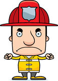 Cartoon Angry Firefighter Man. A cartoon firefighter man looking angry Stock Photo
