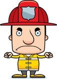 Cartoon Angry Firefighter Man Stock Photo
