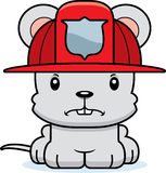 Cartoon Angry Firefighter Mouse. A cartoon firefighter mouse looking angry Stock Photos