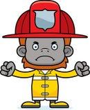 Cartoon Angry Firefighter Orangutan Royalty Free Stock Photos