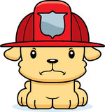 Cartoon Angry Firefighter Puppy Royalty Free Stock Images