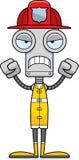 Cartoon Angry Firefighter Robot Stock Photos