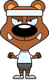 Cartoon Angry Fitness Bear Stock Images