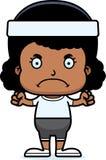 Cartoon Angry Fitness Girl Stock Photos