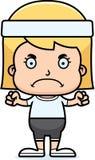 Cartoon Angry Fitness Girl Royalty Free Stock Photo
