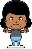 Cartoon Angry Girl Royalty Free Stock Photography