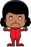 Cartoon Angry Girl In Pajamas Stock Image