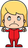 Cartoon Angry Girl In Pajamas Royalty Free Stock Images