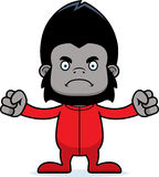 Cartoon Angry Gorilla In Pajamas Royalty Free Stock Photography