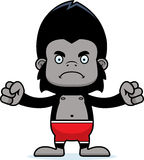 Cartoon Angry Gorilla Swimsuit Stock Photography
