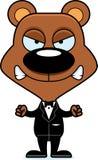 Cartoon Angry Groom Bear Stock Photo