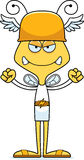 Cartoon Angry Hermes Bee Royalty Free Stock Photos