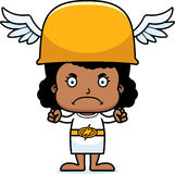 Cartoon Angry Hermes Girl Royalty Free Stock Photo