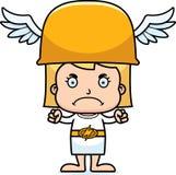 Cartoon Angry Hermes Girl Royalty Free Stock Photography