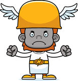 Cartoon Angry Hermes Orangutan Royalty Free Stock Images