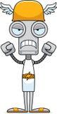 Cartoon Angry Hermes Robot Stock Image