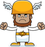 Cartoon Angry Hermes Sasquatch Royalty Free Stock Images