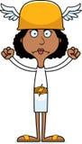 Cartoon Angry Hermes Woman Royalty Free Stock Image