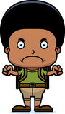 Cartoon Angry Hiker Boy Royalty Free Stock Photos